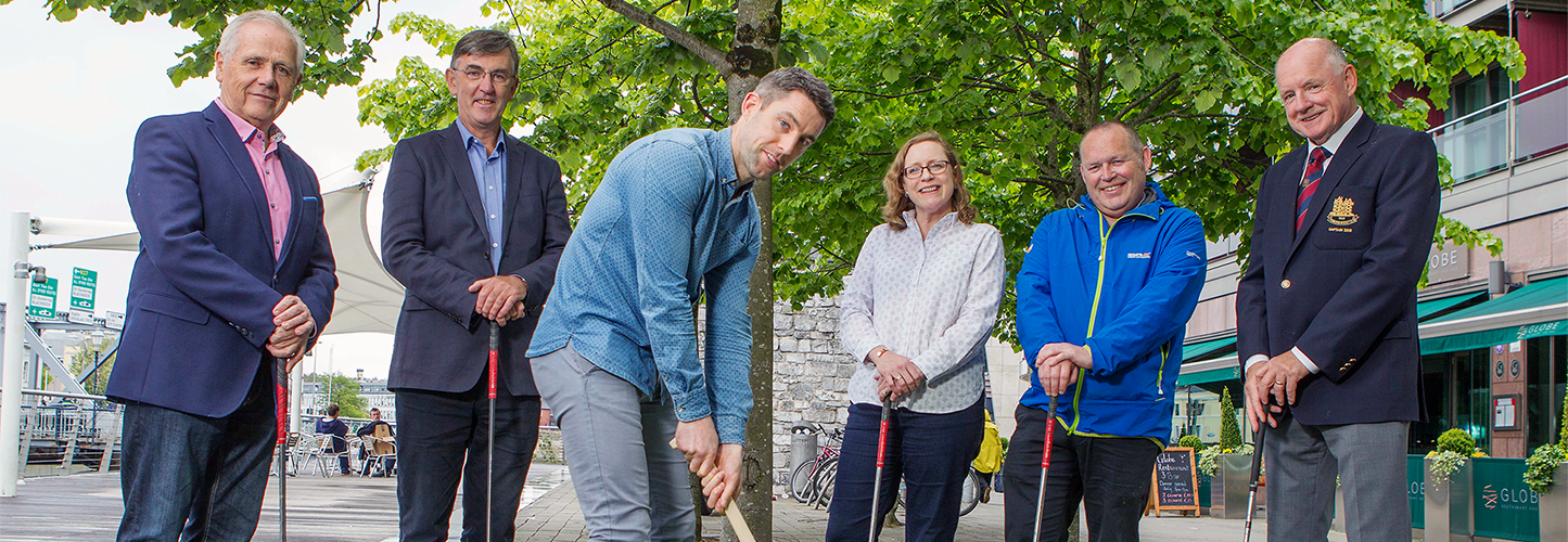 Image of launch of Cork Simons Golf Classic